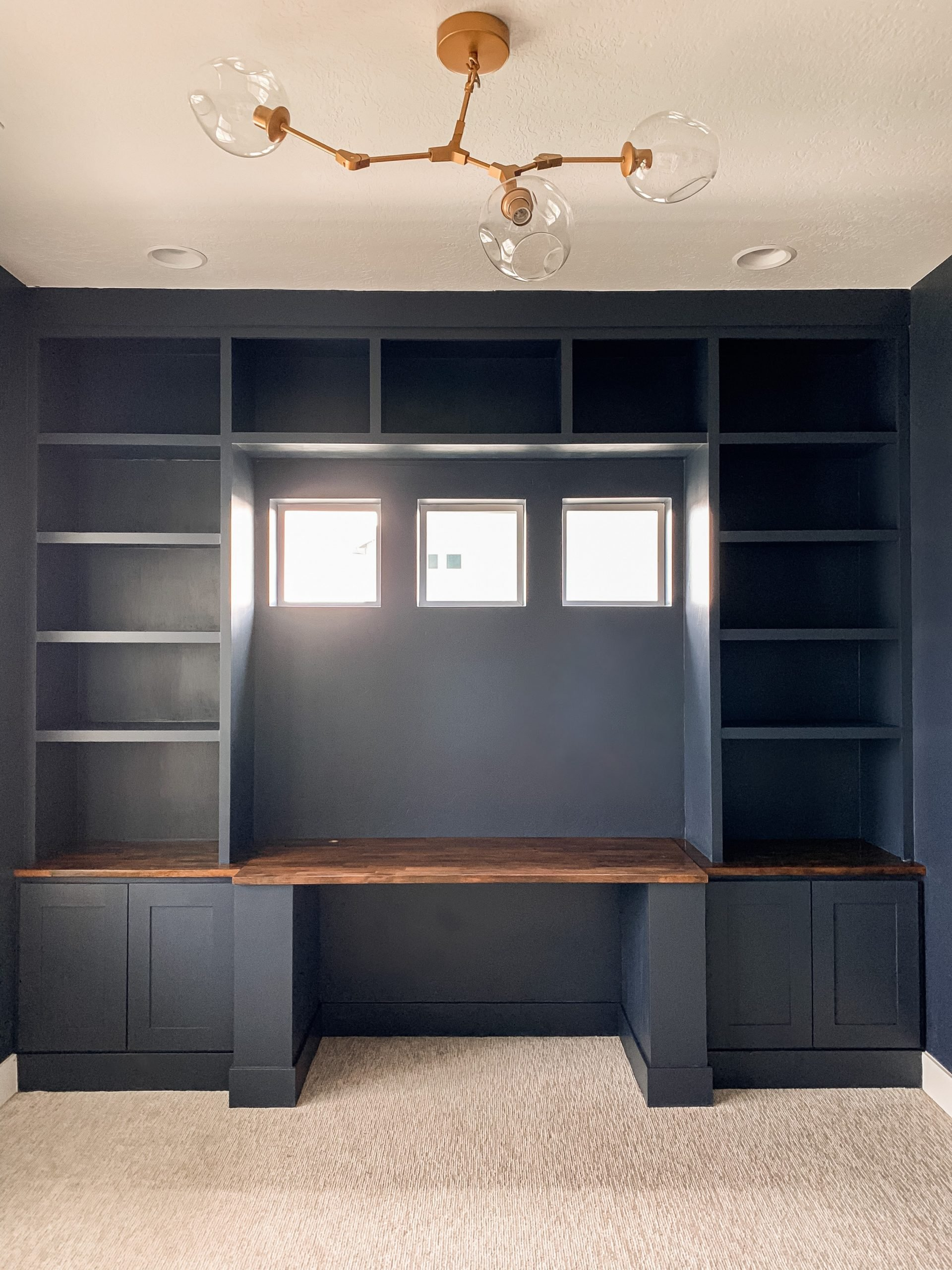 Navy Blue Office Built ins
