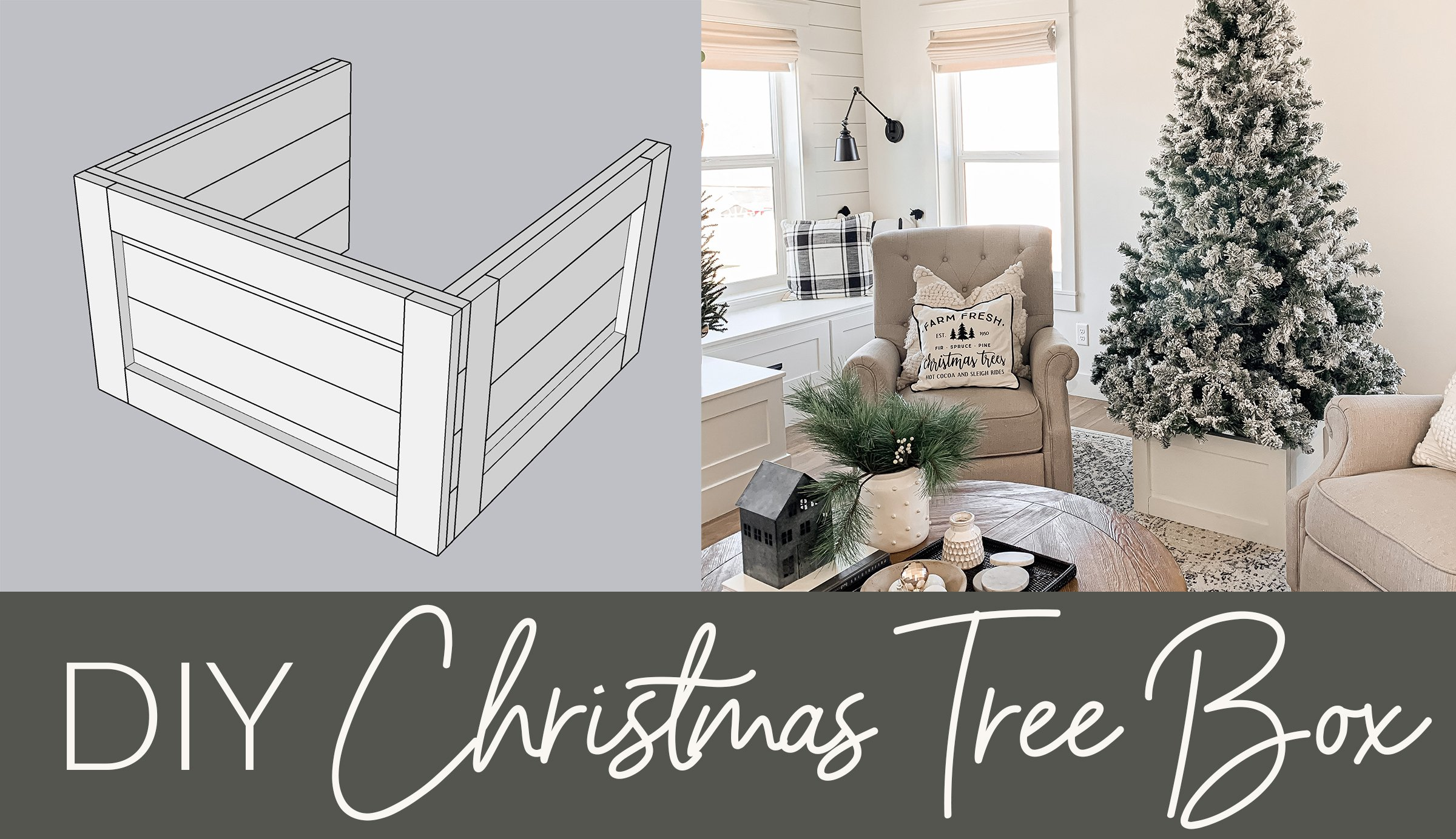 How to build Christmas Tree box
