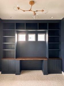Navy Blue Office Built ins