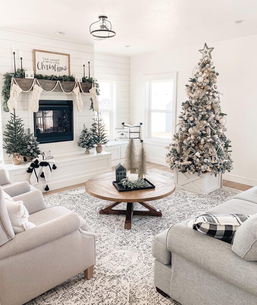 dekorasi natal rumah ruang tamu